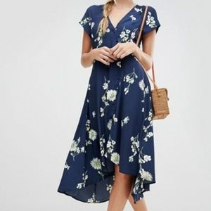 NWOT Free People Blue Floral Combo Lost You Dress